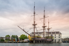VOC Ship At The Harbor Of Amst...