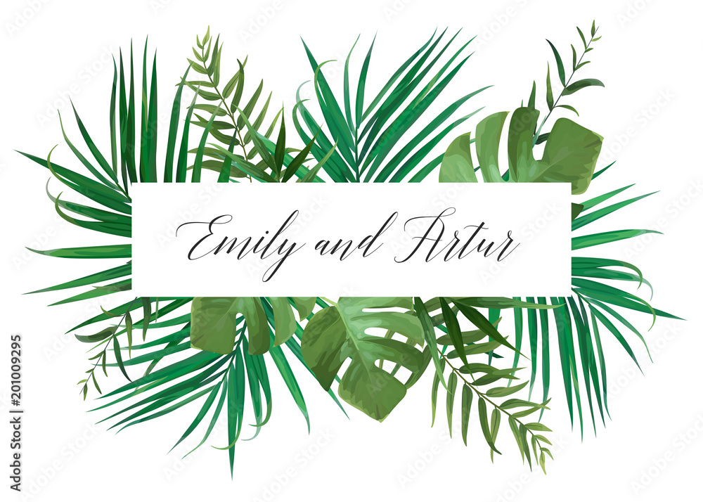 Wedding Floral Invitation Invite Card Vector Watercolor