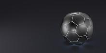 Metallic Soccer Ball On A Blac...