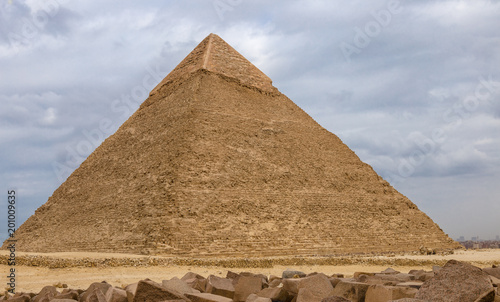 Tuinposter Egypte Egyptian pyramids in of Giza, Egypt