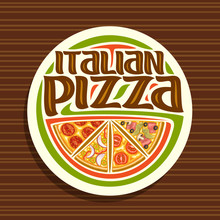 Vector Logo For Italian Pizza,...