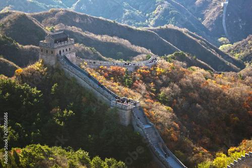 Obraz na plátně the great wall of china, china, peking, wall, wall, great wall, nature, protecti