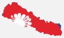 Nepal Flag & Map Vector Hand P...