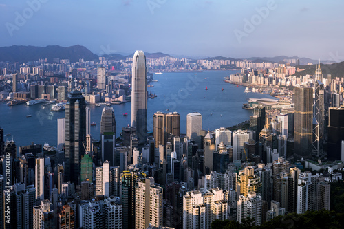 Photo  Hong Kong cityscape at daytime. View from Peak
