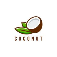 Coconut Logo Template Vector Illustration