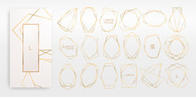 Gold Collection Of Geometrical...