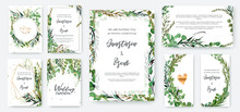 Wedding Invitation Frame Set; ...