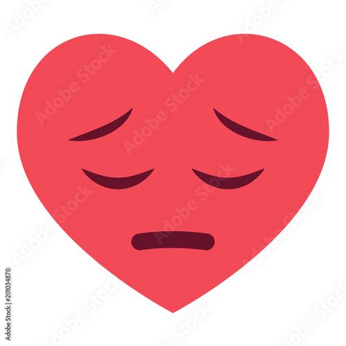 Fotografie, Obraz  Herz Emoji bedauernd