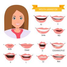Female Mouth Animation. Phonem...
