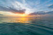 Inspirational calm sea sky background, colorful dreams concept