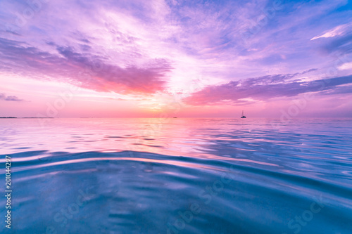 Photo  Inspirational calm sea sky background, colorful dreams concept