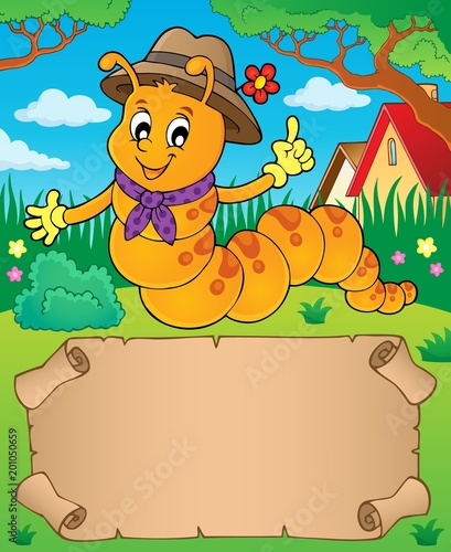 For Kids Happy caterpillar theme parchment 1