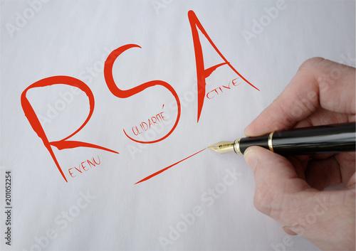 RSA manuscrit rouge Canvas Print