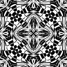 Decorative Pattern In A Black ...