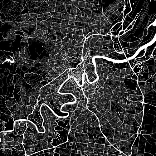 Fotografie, Obraz Area map of Brisbane, Australia