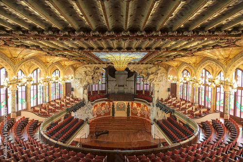 Tuinposter Theater Palace of Catalan music in Barcelona, Catalonia, Spain
