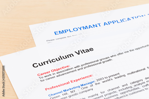 Curriculum Vitae And Employment Application Form Buy This Stock