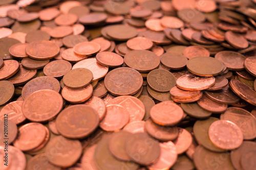 Cuadros en Lienzo UK  1p and 2p coins