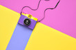 canvas print picture Fashion Film Camera. Pop Art Style. Minimal