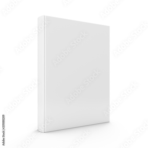 3D rendering blank book on white background Fototapet