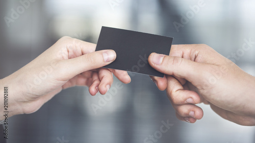 People are exchanging business card buy this stock photo and people are exchanging business card colourmoves