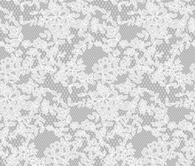 Seamless Floral Lace Pattern, ...