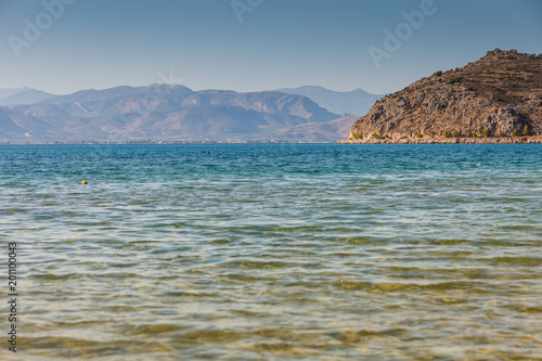 Poster Kust Greek sea coastline, seascape