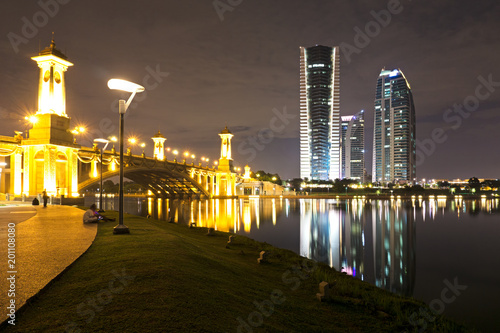 Plagát  Putrajaya night view, Federal territory of Malaysia.
