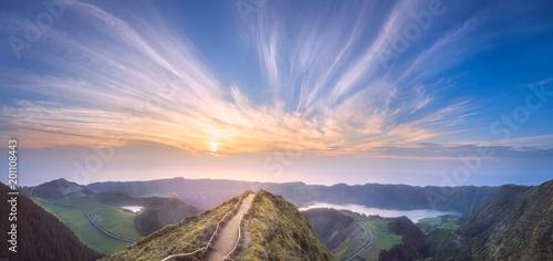 Sao Miguel Island and lake Ponta Delgada, Azores