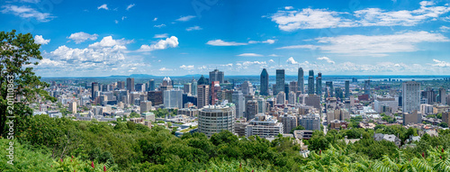 Obraz View of Montreal city in Canada - fototapety do salonu