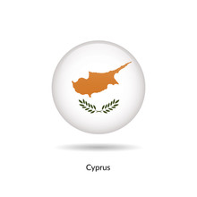 Cyprus Flag - Round Glossy But...