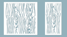 Vector Illustration. Decorative Panel Lines, Laser Cutting. Cut Wooden Panel.