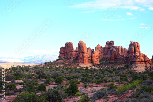 Tuinposter Lichtblauw Geologic Wonders of Arches National Park - Utah