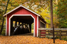 Traditional Covered Bridge In ...