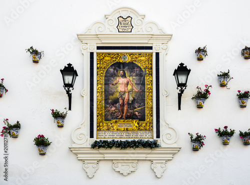 Fotografie, Obraz  Retablo cerámico del Resucitado, Córdoba, Andalucía, España