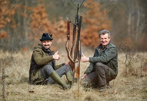 Fotografia Hunters in the forest