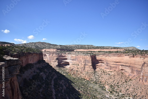 Foto op Canvas Zalm Geologic phenomena and natural wonders of Colorado National Monument