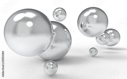 Abstract 3d shapes on background. 3d image. 3d rendering. - 201133084