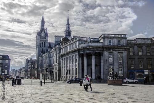 Photo Town House and Union Street, Aberdeen, Scotland, United Kingdom.