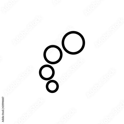Fototapeta bubbles icon. Element of minimalistic icons for mobile concept and web apps. Thin line icon for website design and development, app development obraz na płótnie