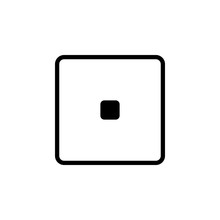 Playing Zary One Icon. Element Of Minimalistic Icons For Mobile Concept And Web Apps. Thin Line Icon For Website Design And Development, App Development