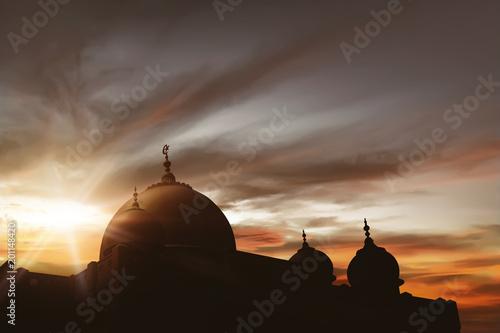 Door stickers Temple Majestic mosque