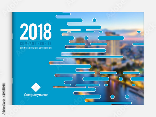 Aluminium Prints Blue Cover design template corporate business annual report brochure poster company profile catalog magazine flyer booklet leaflet. Cover page design element A4 landscape sample image with Gradient Mesh.