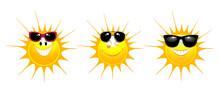 Sun Icon With Sunglasses