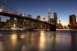 The Brooklyn Bridge over the East River