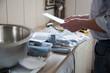 man installing kitchen - DIY concept