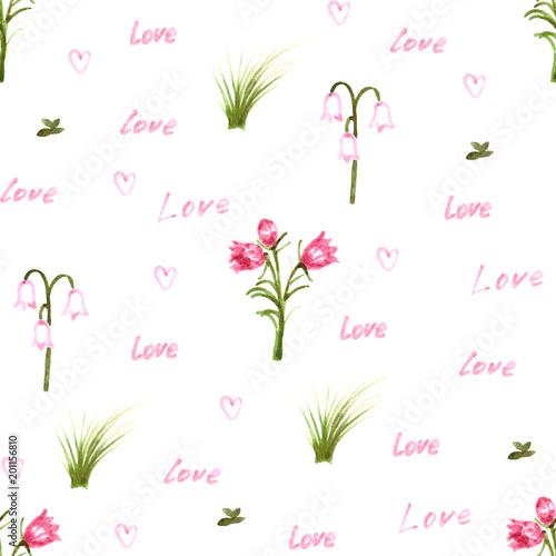 Kwiaty i napisy