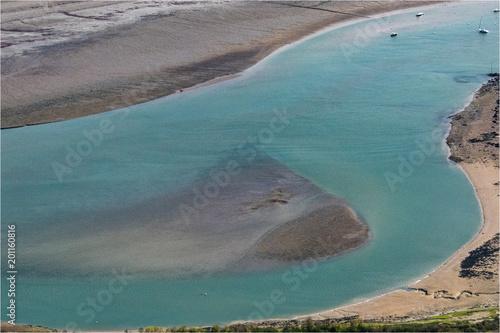 Valokuva  vue aérienne de l'estuaire de la Rance en Bretagne en France