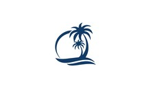 Logo Palm Tree Blue
