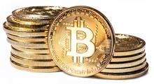 Shiny Physical Bitcoins Isolat...